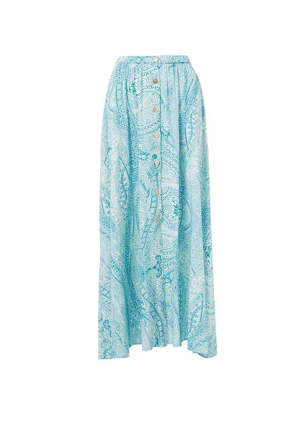 Daisy Paisley Button-Down Maxi Skirt
