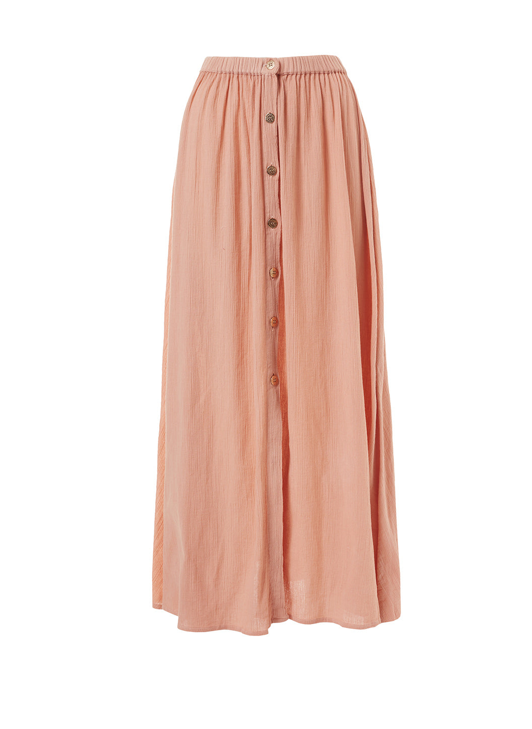 Dru Tan Button-Down Maxi Skirt