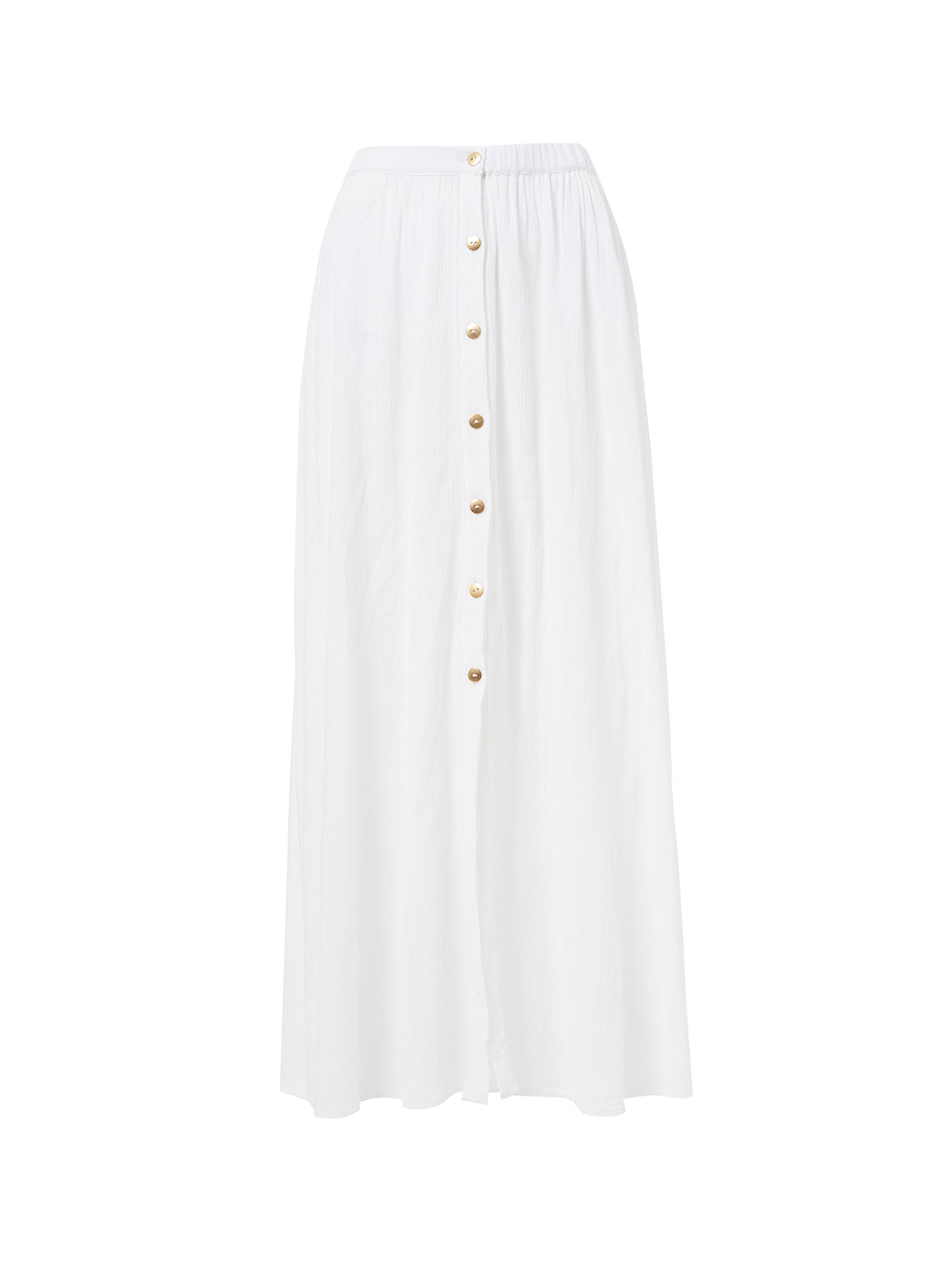 Dru White Button-Down Maxi Skir - Melissa Odabash Beachwear