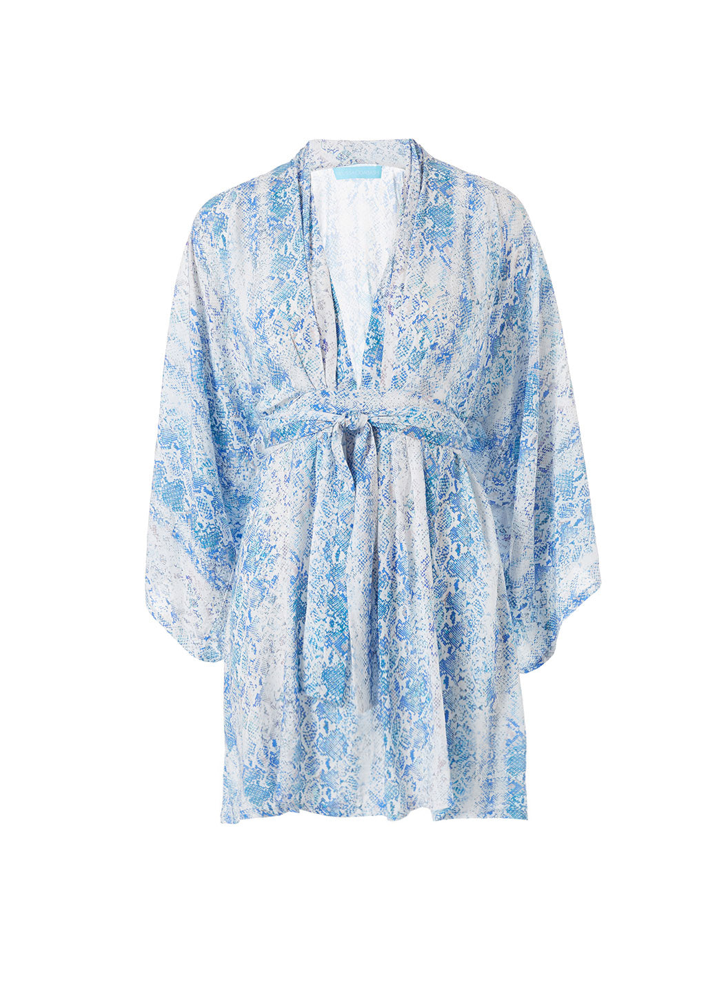 Eloise Serpente Belted Short Dress - Melissa Odabash Kaftans