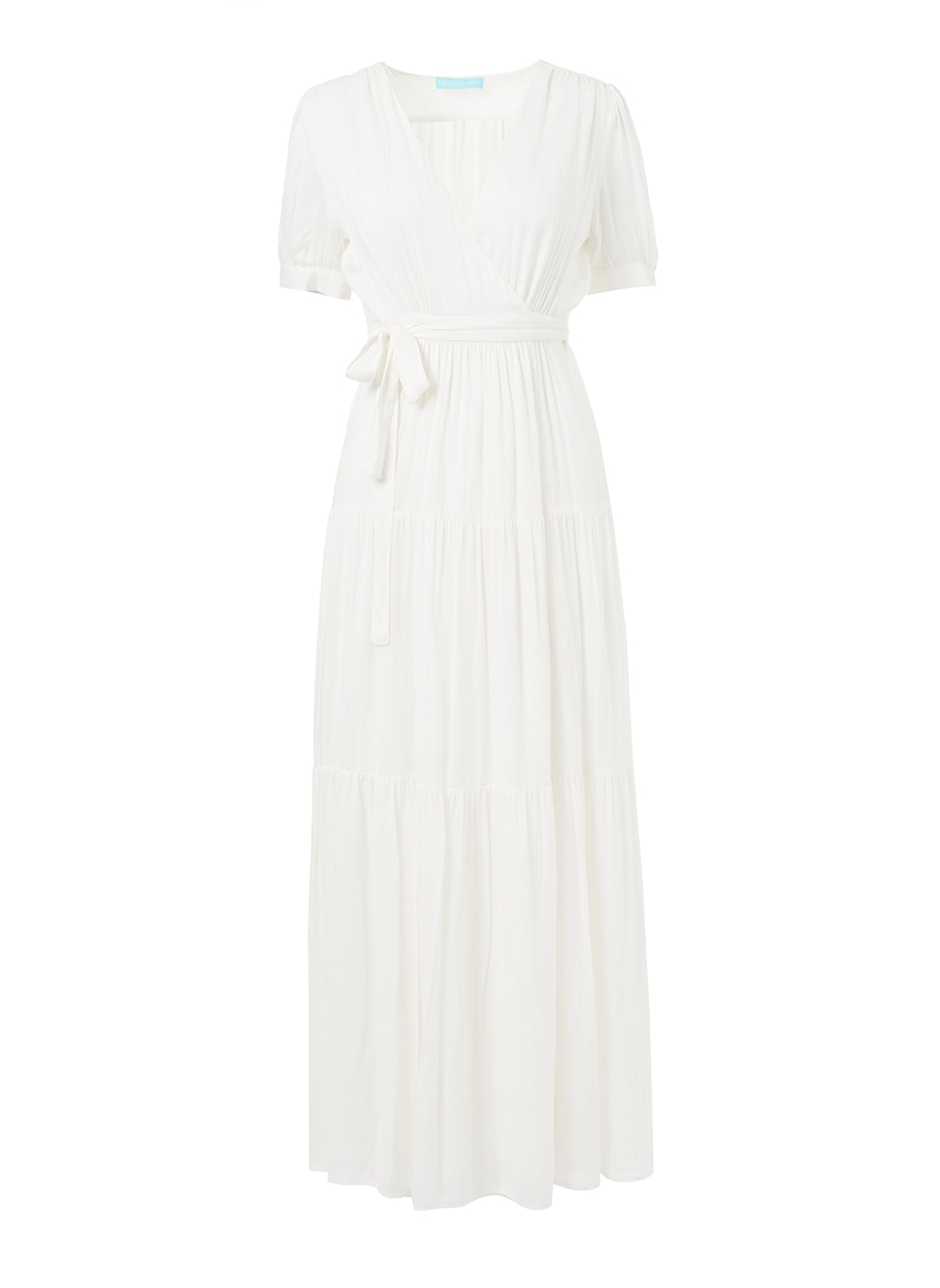 Emily Maxi Wrap Dress Cream - Melissa Odabash Beach Dresses
