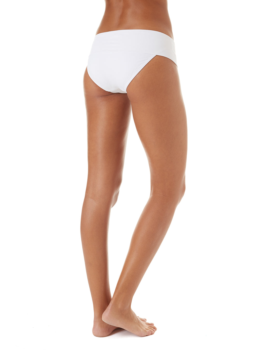 Exclusive Brussels Fold-Over Bikini Bottom White