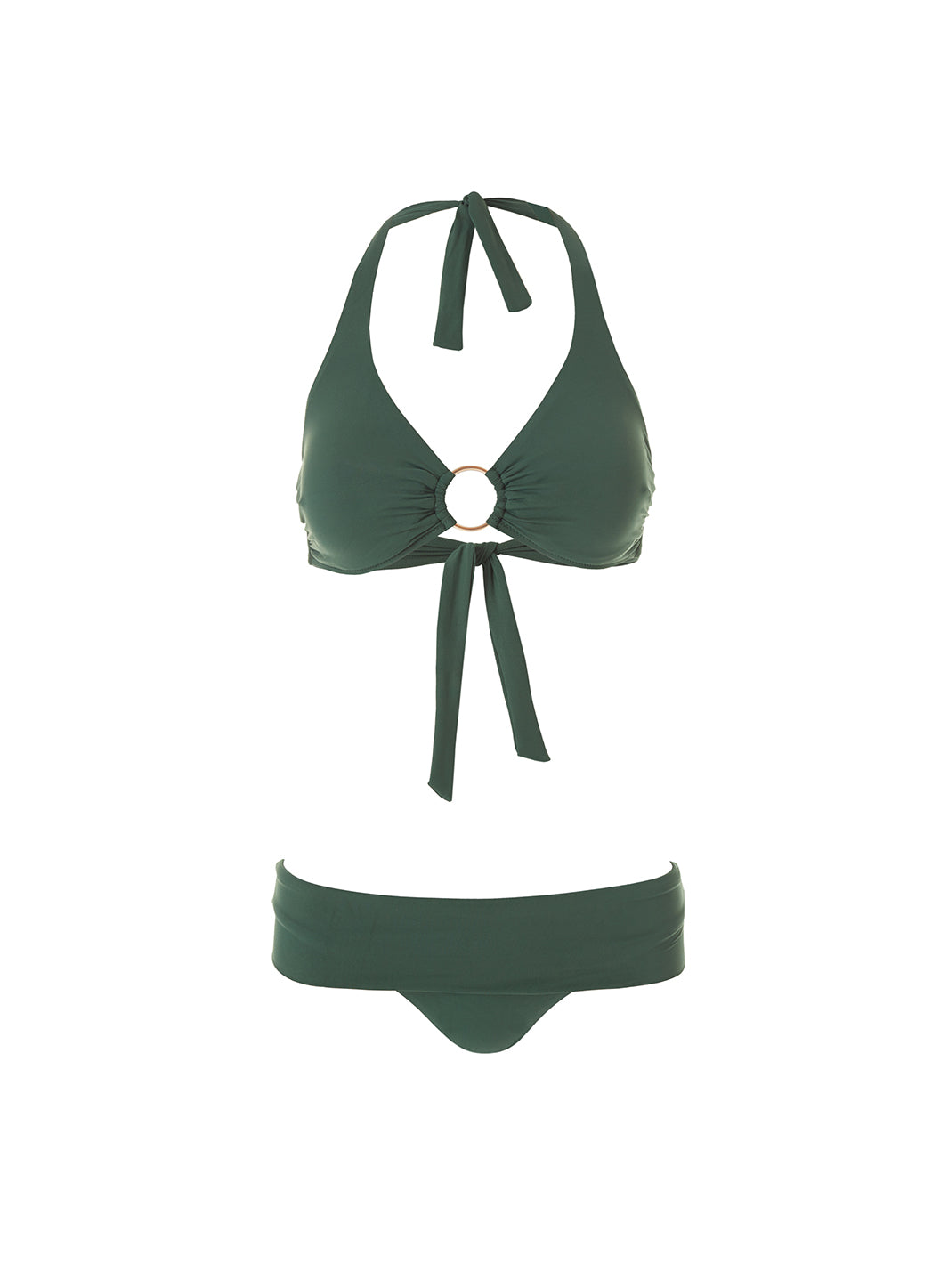 Exclusive Brussels Forest Halterneck Ring Supportive Bikini  - Melissa Odabash Supportive Swimwear