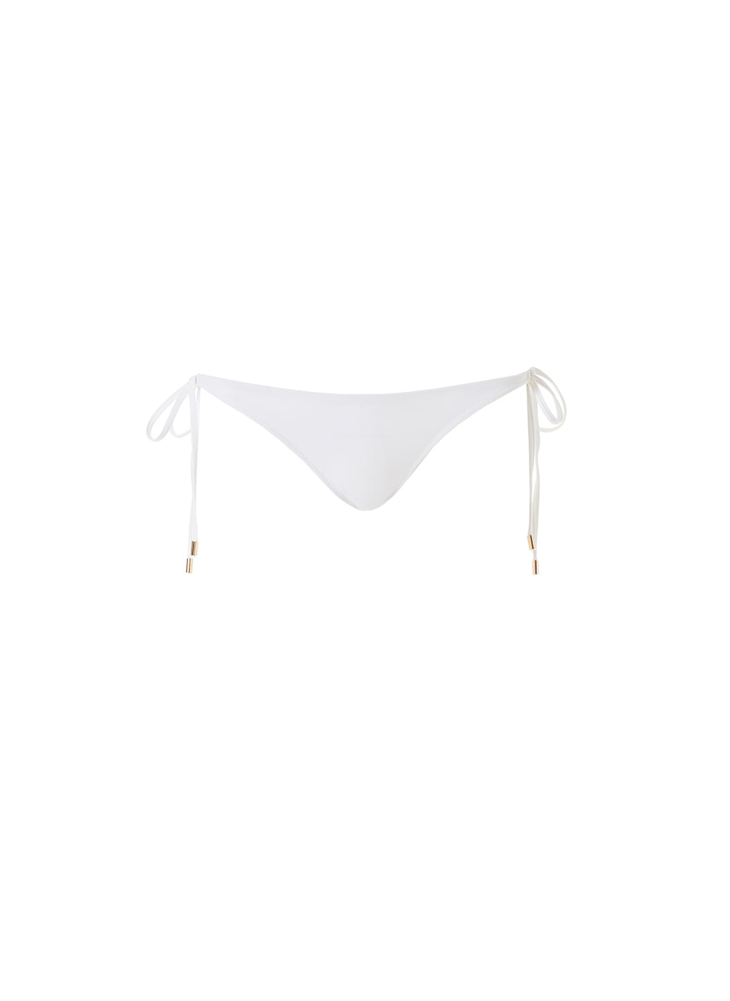 Exclusive Cancun Tie-Side Bottoms Plain White - Melissa Odabash Swimwear