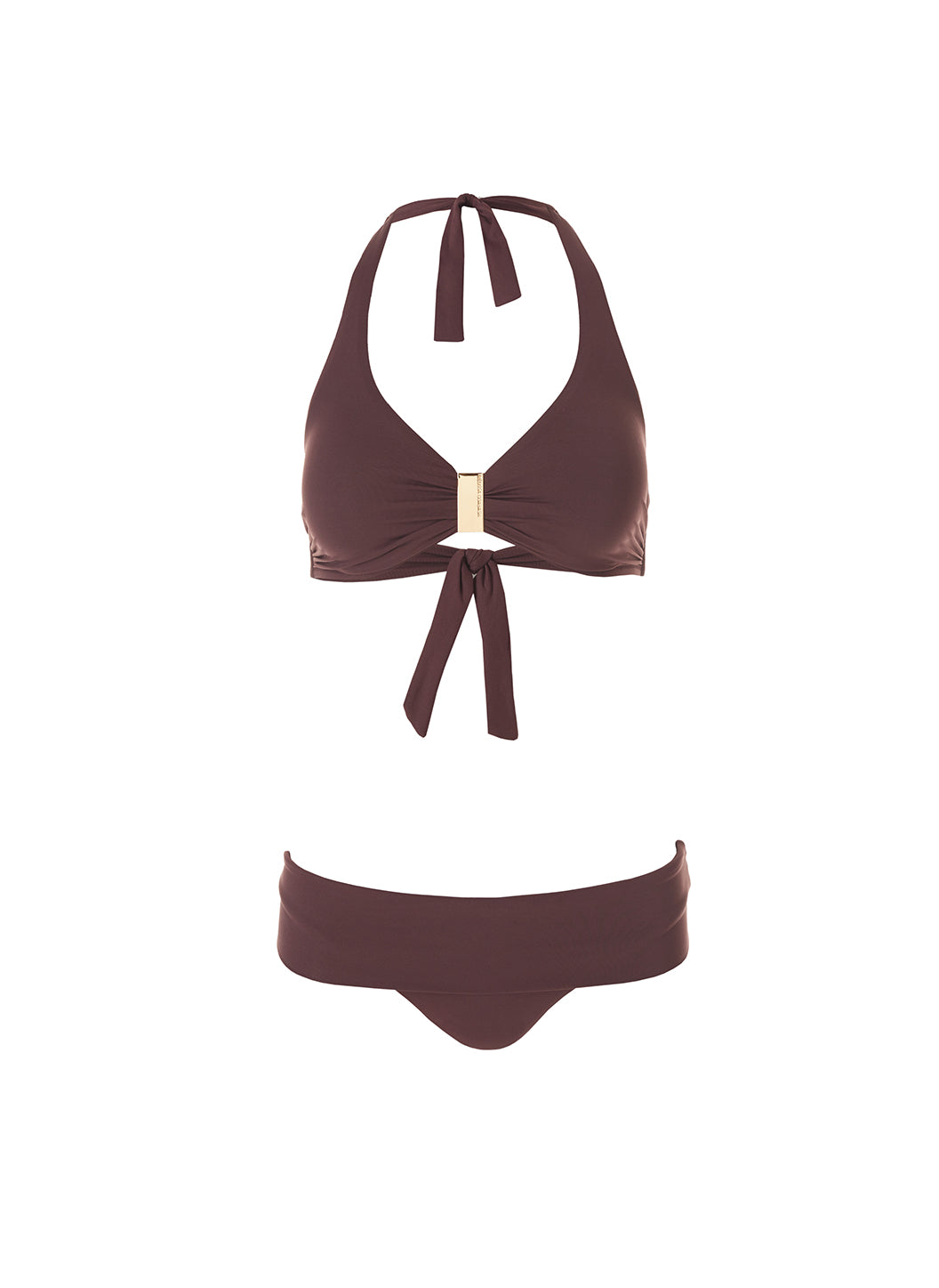Exclusive Provence Walnut Halterneck Supportive Bikini  - Melissa Odabash Brown Bikinis