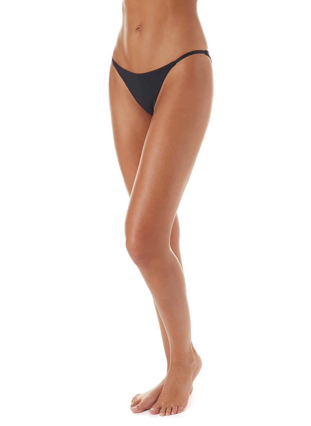 Exclusive St Tropez Black High-Leg Bikini Bottom - Melissa Odabash Bikini Bottoms