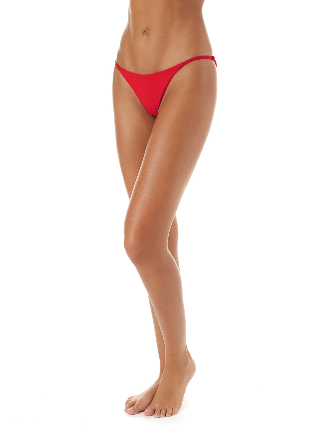 Exclusive St Tropez Red High-Leg Bikini Bottom - Melissa Odabash Bikini Bottoms