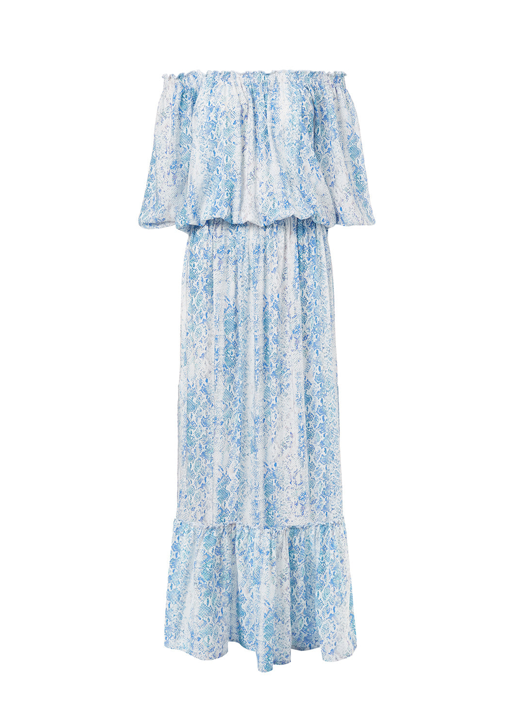 Faith Serpente Off The Shoulder Frill Maxi Dress - Melissa Odabash Dresses & Kaftans
