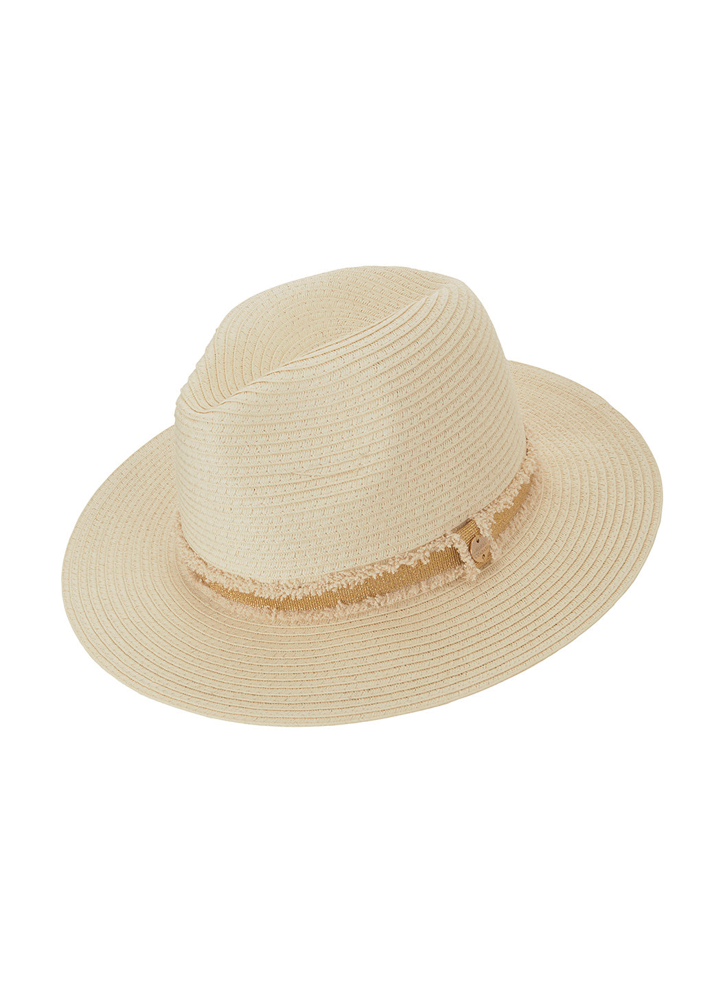 Fedora Hat Cream/Gold