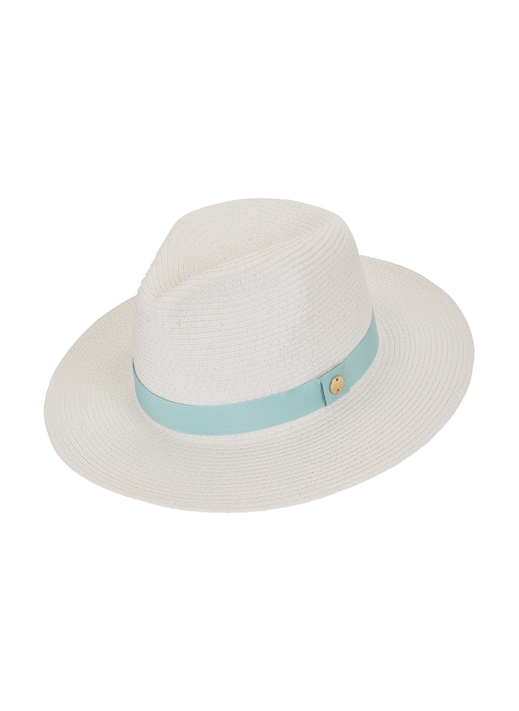 Fedora Hat White Mint - Melissa Odabash Accessories