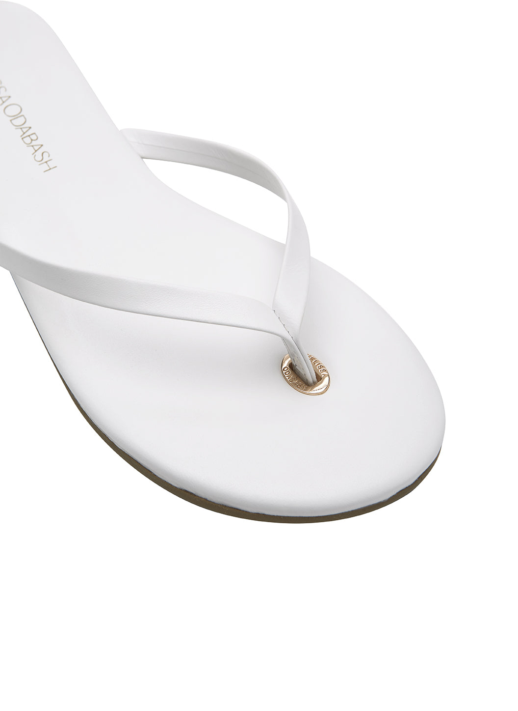 Leather Flip Flops White