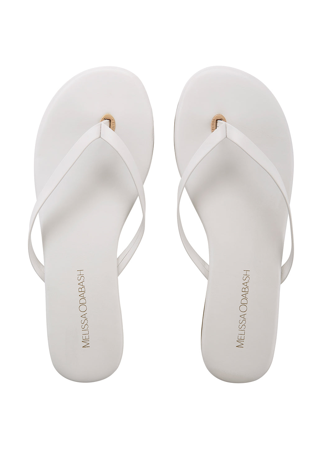 Melissa Odabash Leather Flip Flops White - Melissa Odabash Accessories
