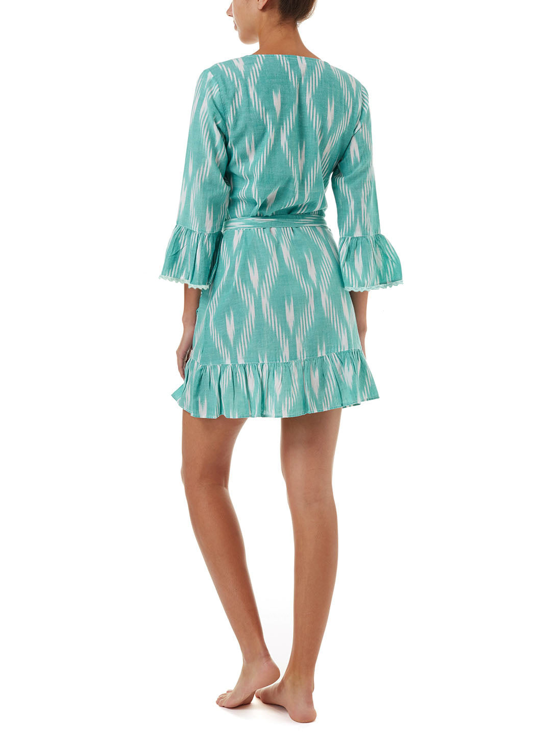 Freya Greenikat Short Belted Wrap Dress
