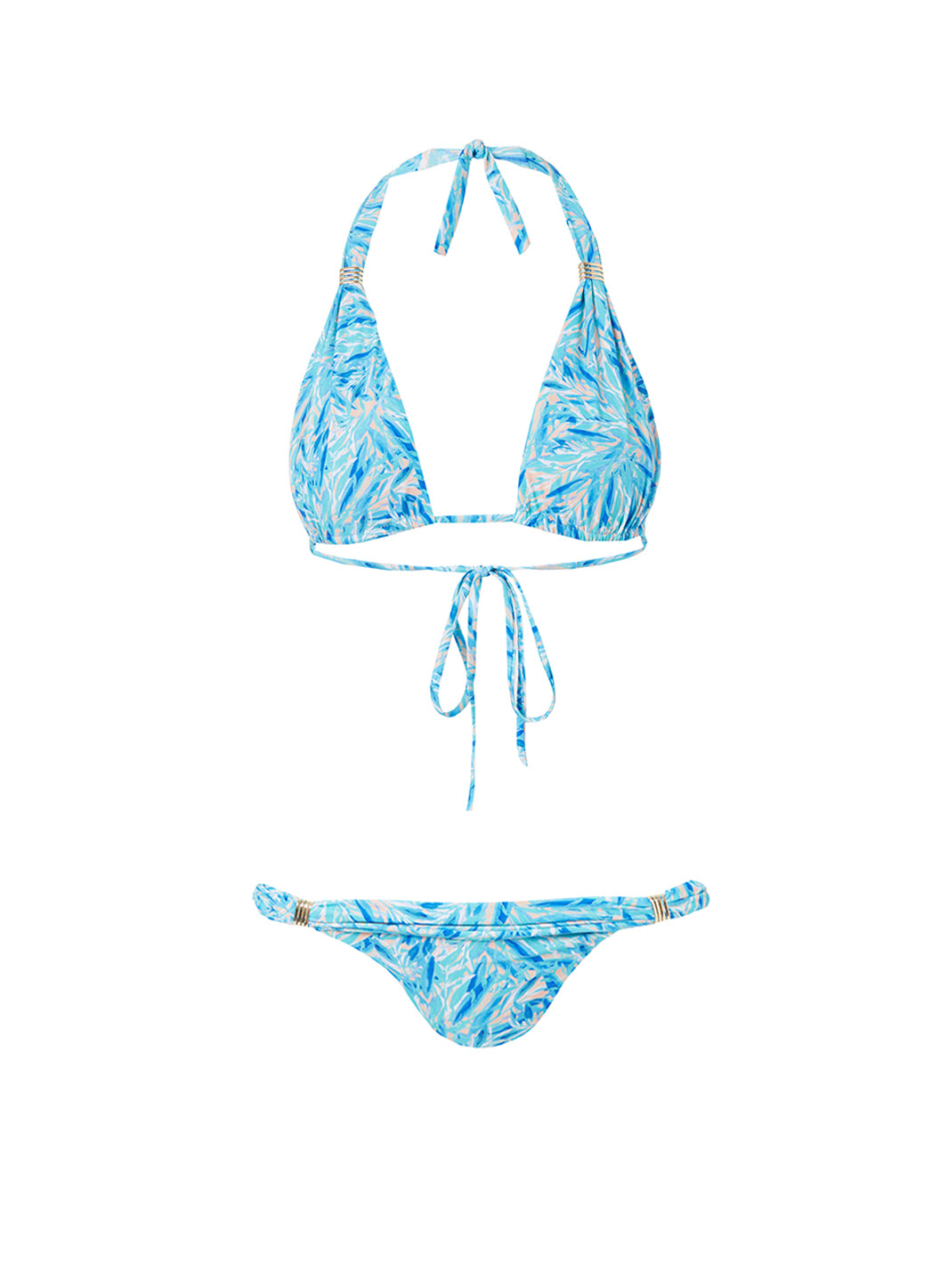Grenada Blue Leaf Adjustable Halterneck Bikini