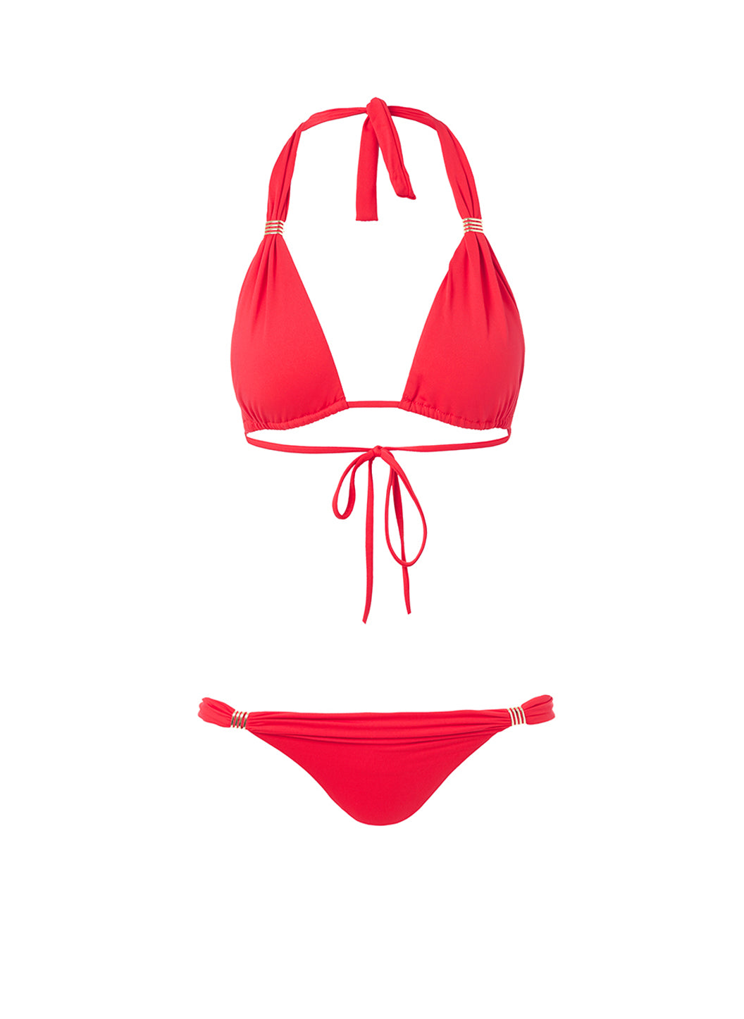 Grenada Red Adjustable Halterneck Bikini
