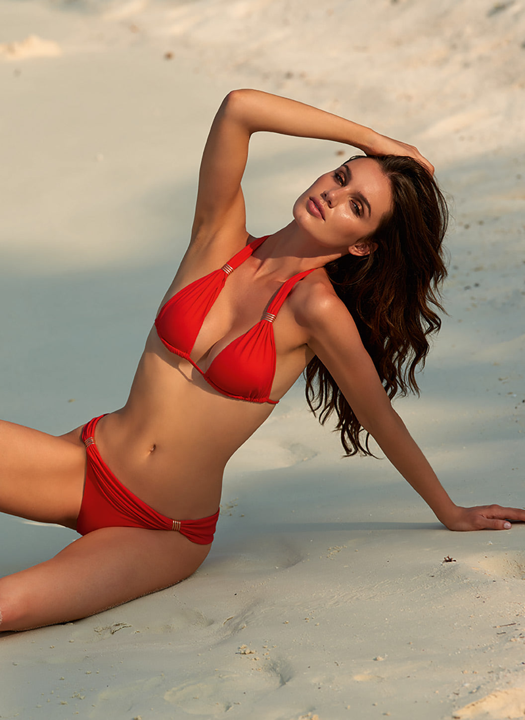 Grenada Red Adjustable Halterneck Bikin - Melissa Odabash Swimwear