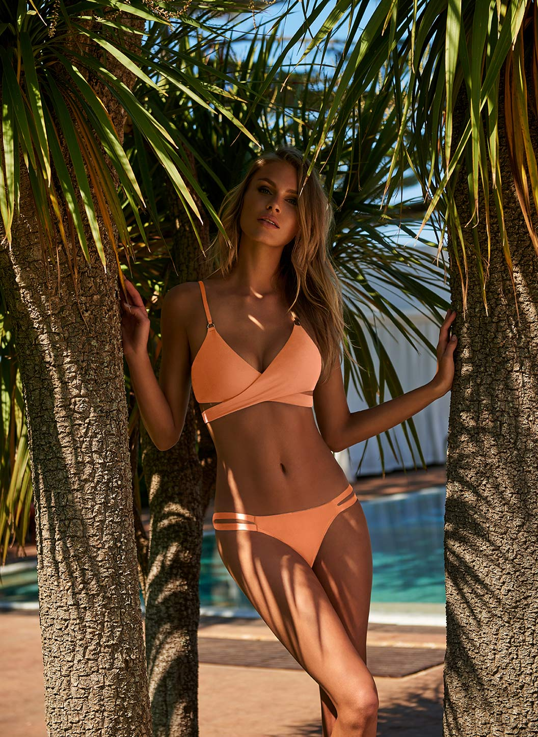 Indonesia Mango Over The Shoulder Wrap Bikini