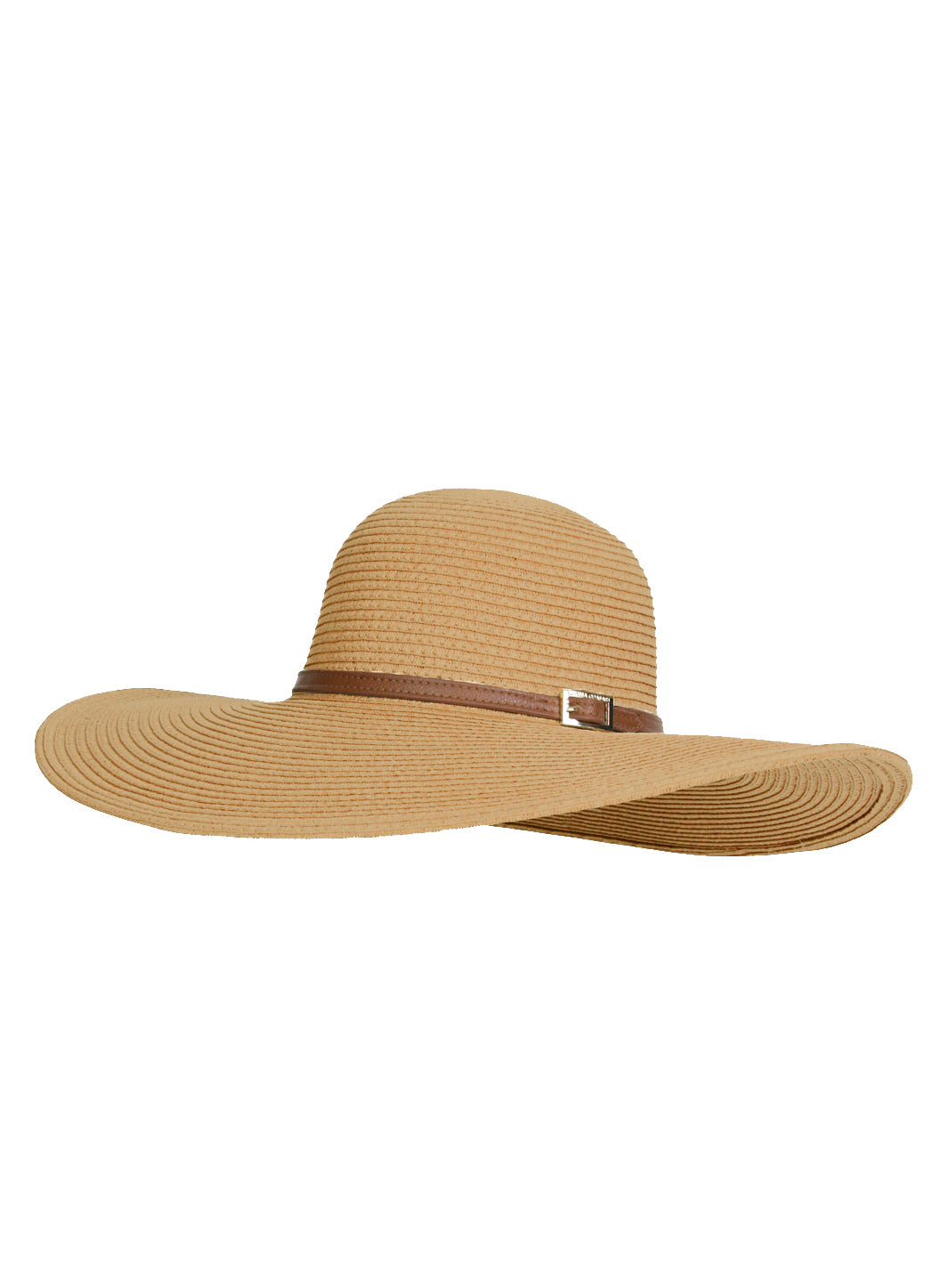 Jemima Wide Brim Beach Hat Beige