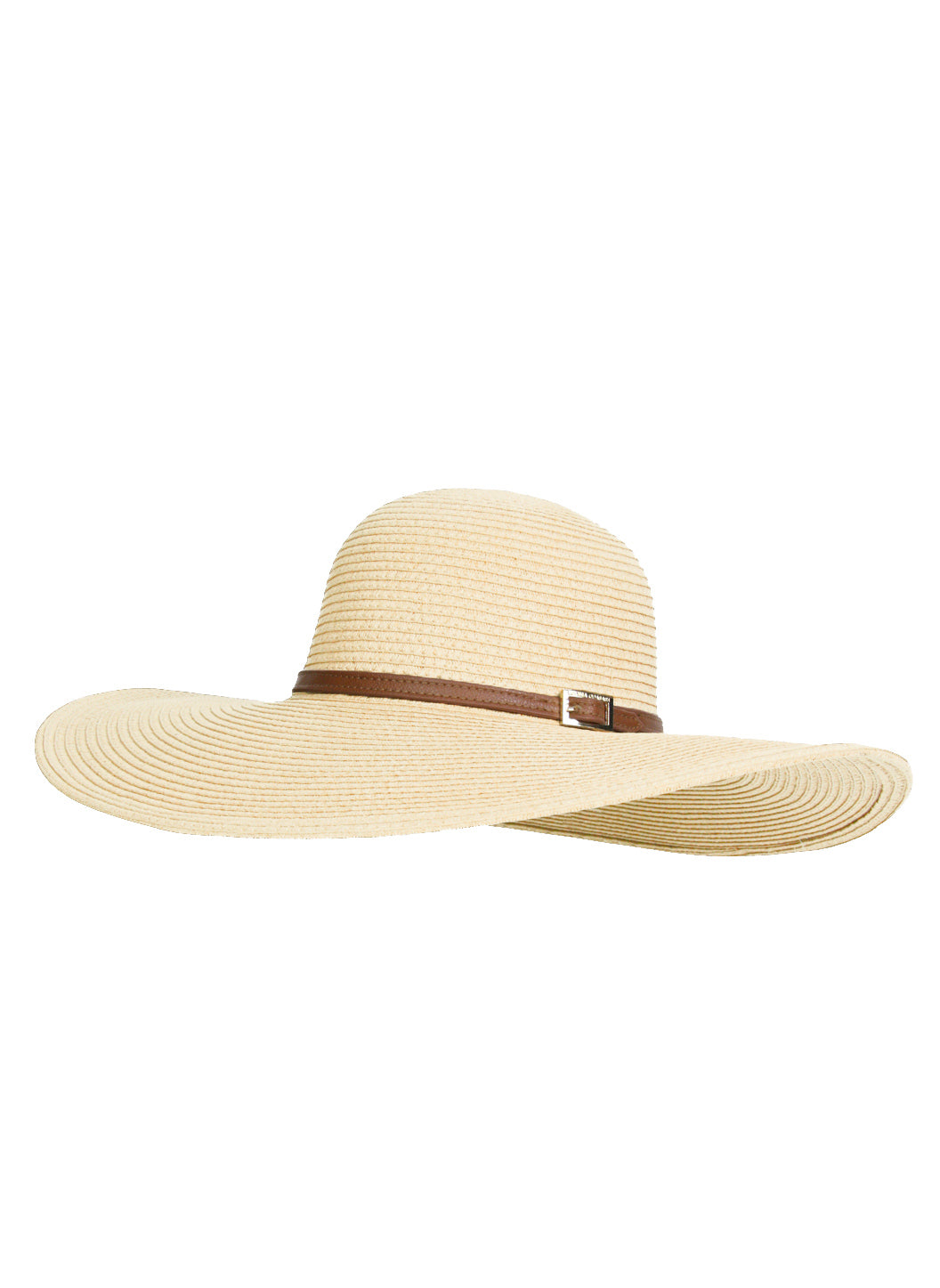 Jemima Wide Brim Beach Hat Cream