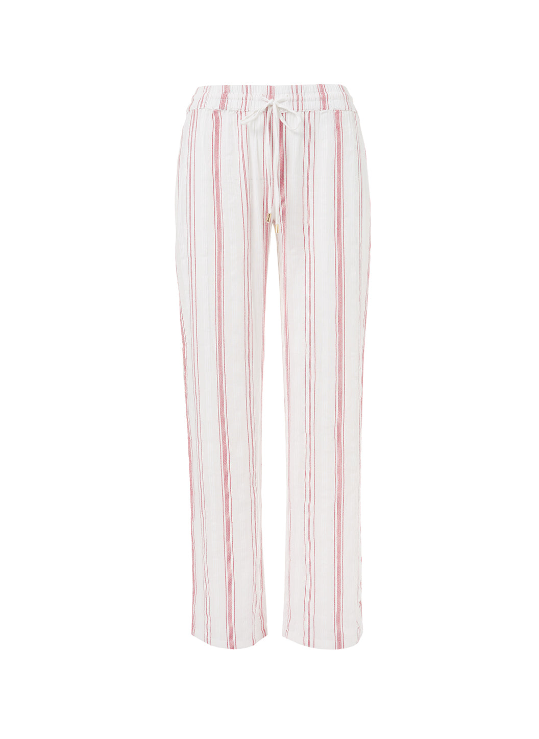 Krissy Red Stripe Straight Leg Trouser