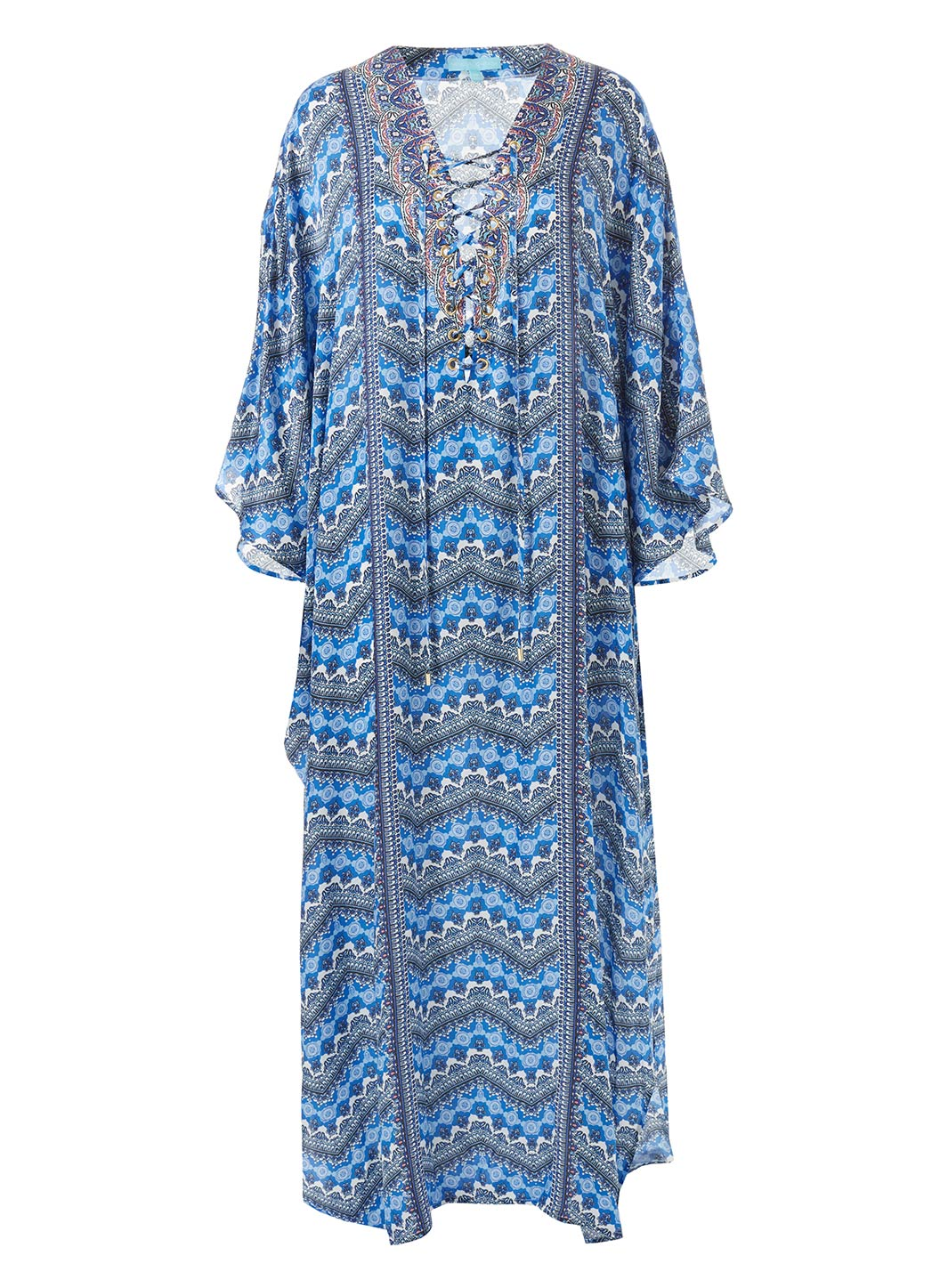 Lola Fresco Lace-Up Maxi Dres - Melissa Odabash Beachwear