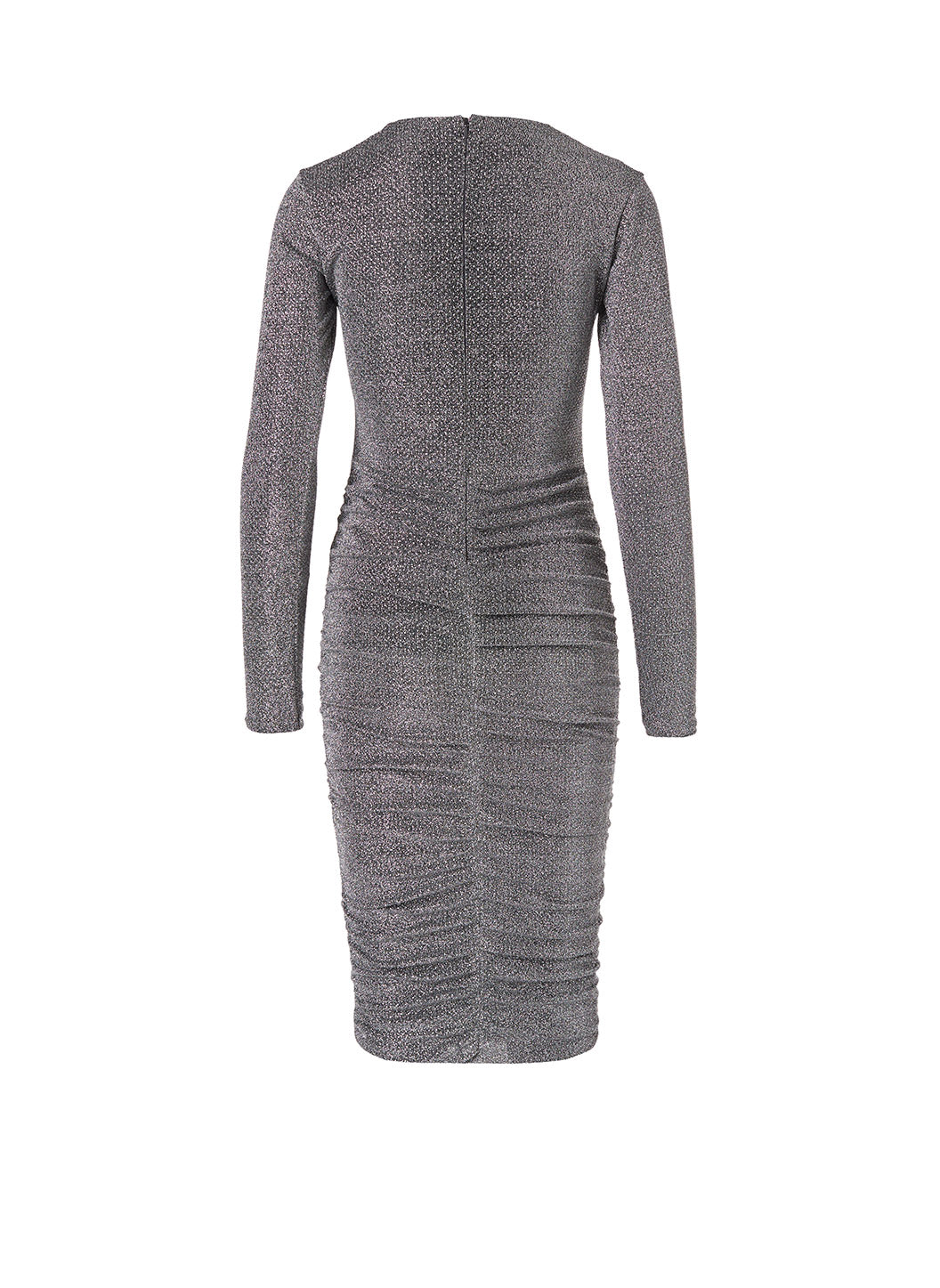 Look 18 Gathered Midi Dress Silver