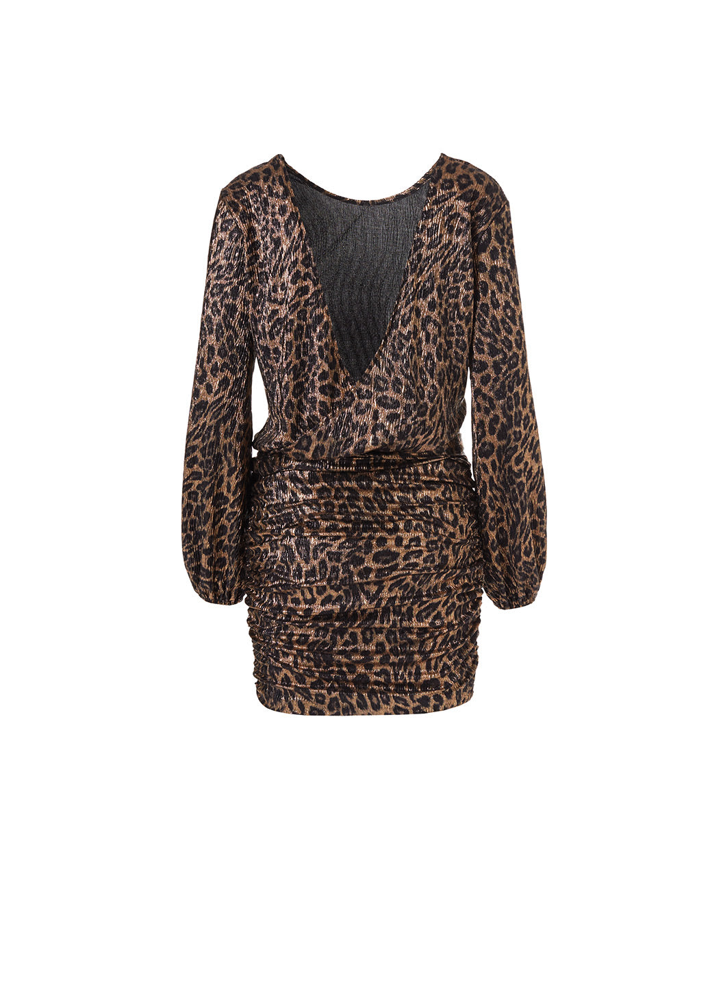 Look 20 Open Back Mini Dress Leopard