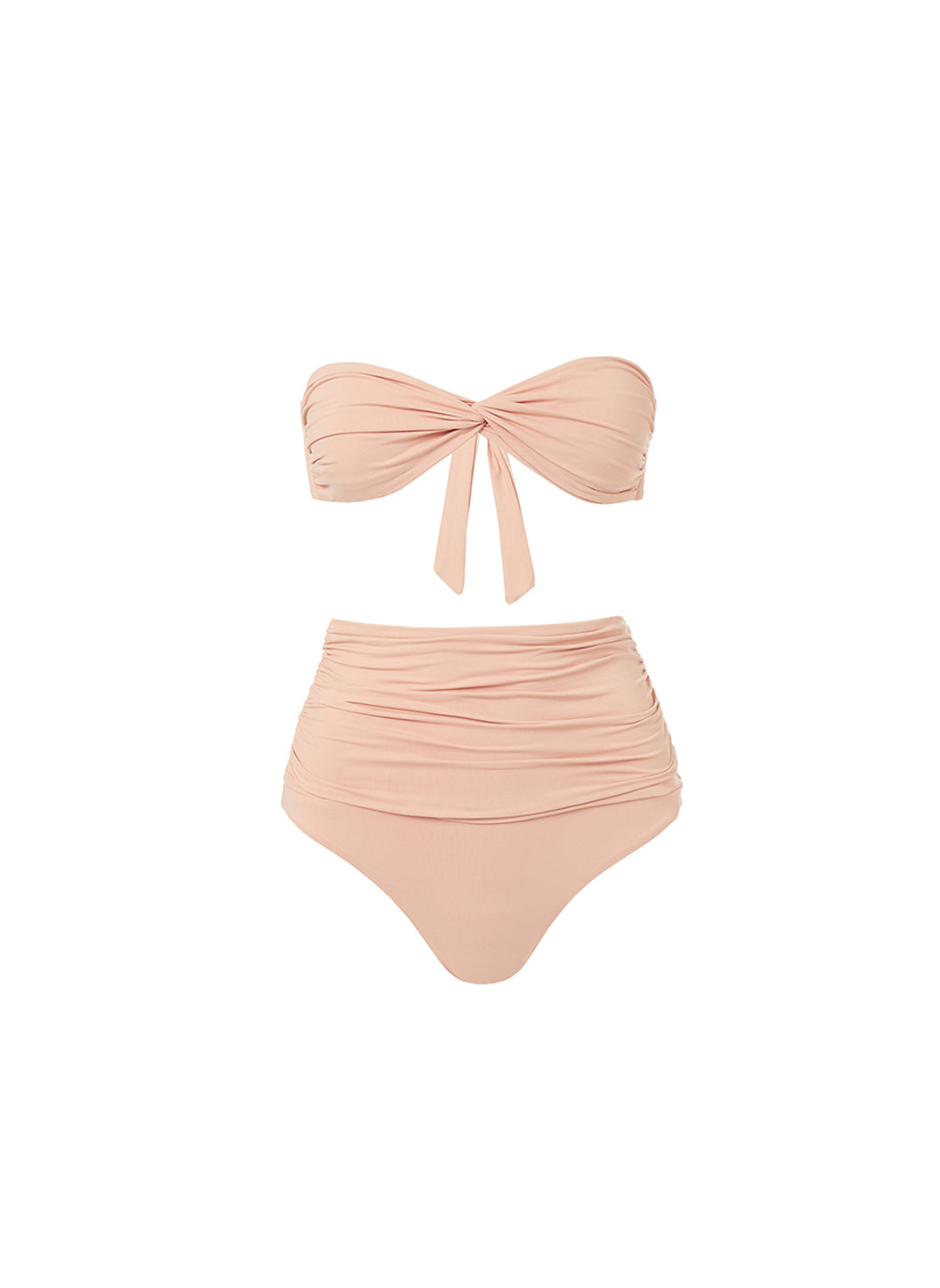 Lyon Tan High Waisted Bandeau Bikini