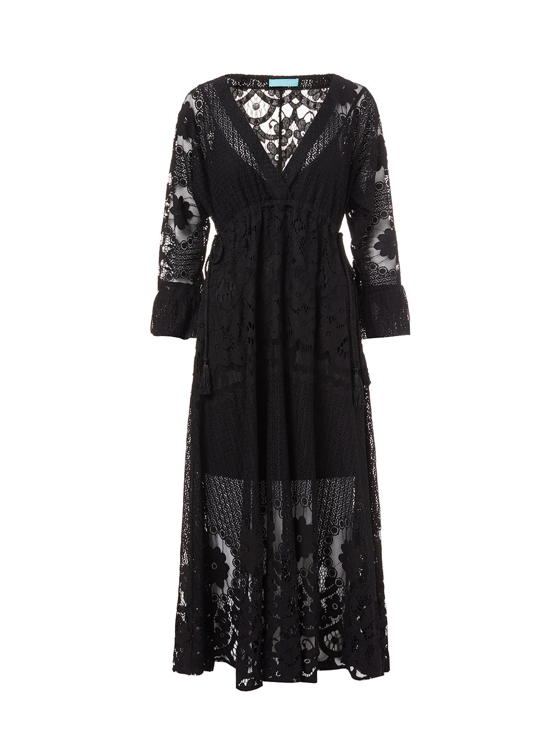 Melissa Black Lace Tie-Side Midi Dress - Melissa Odabash Beachwear