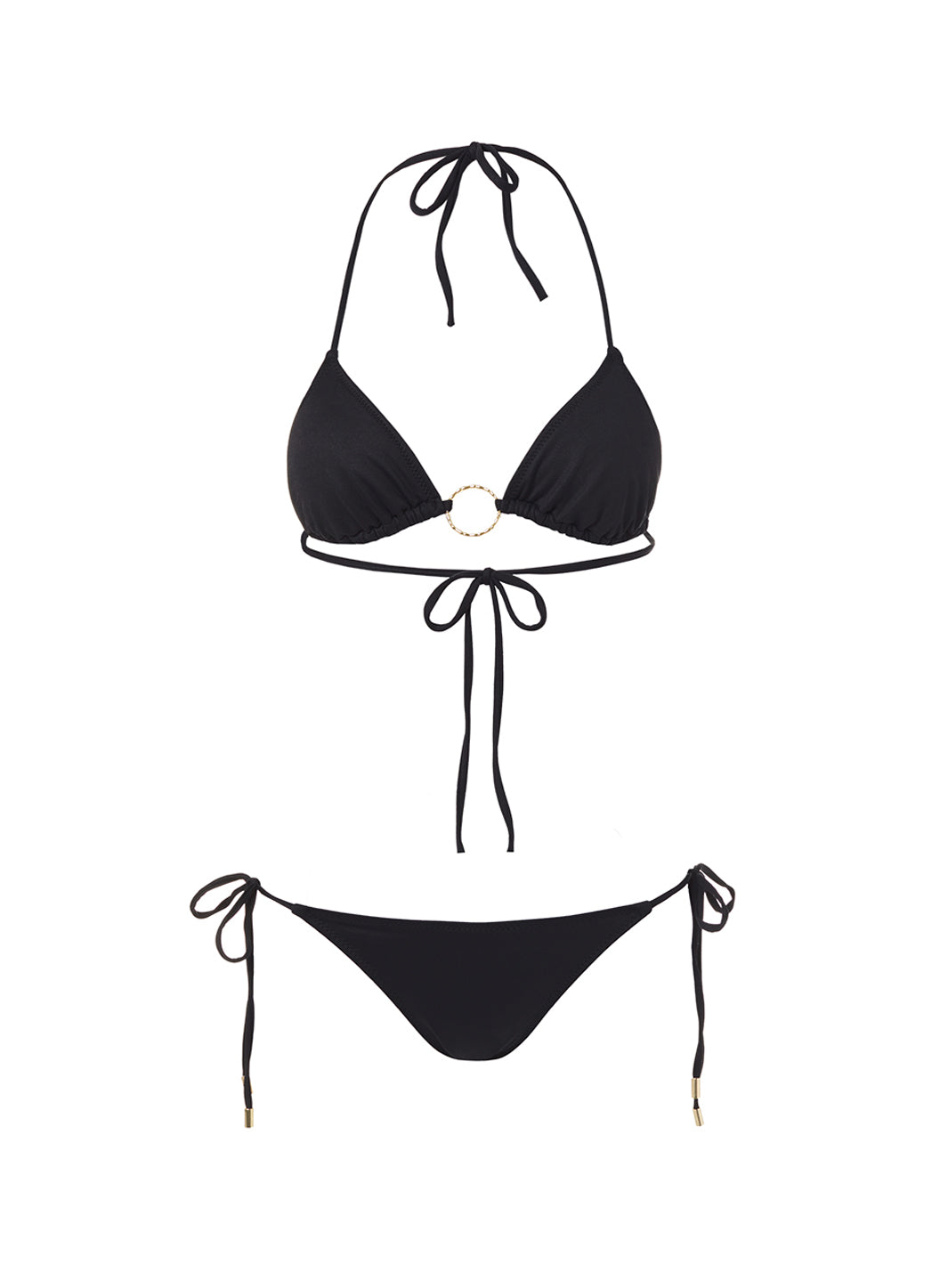 Miami Black Triangle Ring Bikini