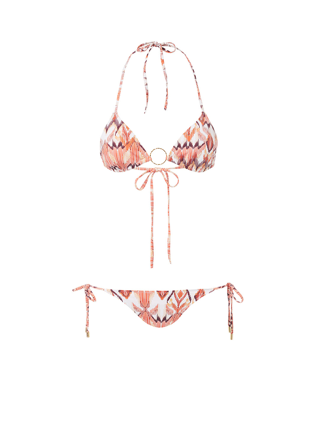 Miami Ikat Triangle Ring Bikini