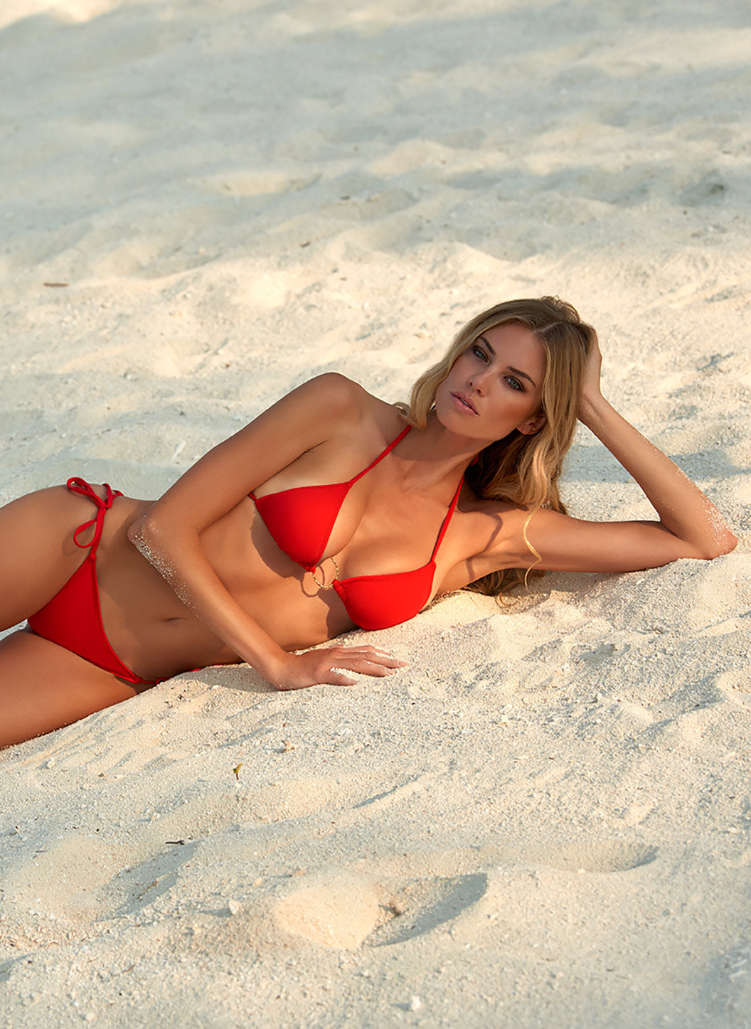 Miami Red Triangle Ring Bikini  - Melissa Odabash Triangle Bikinis