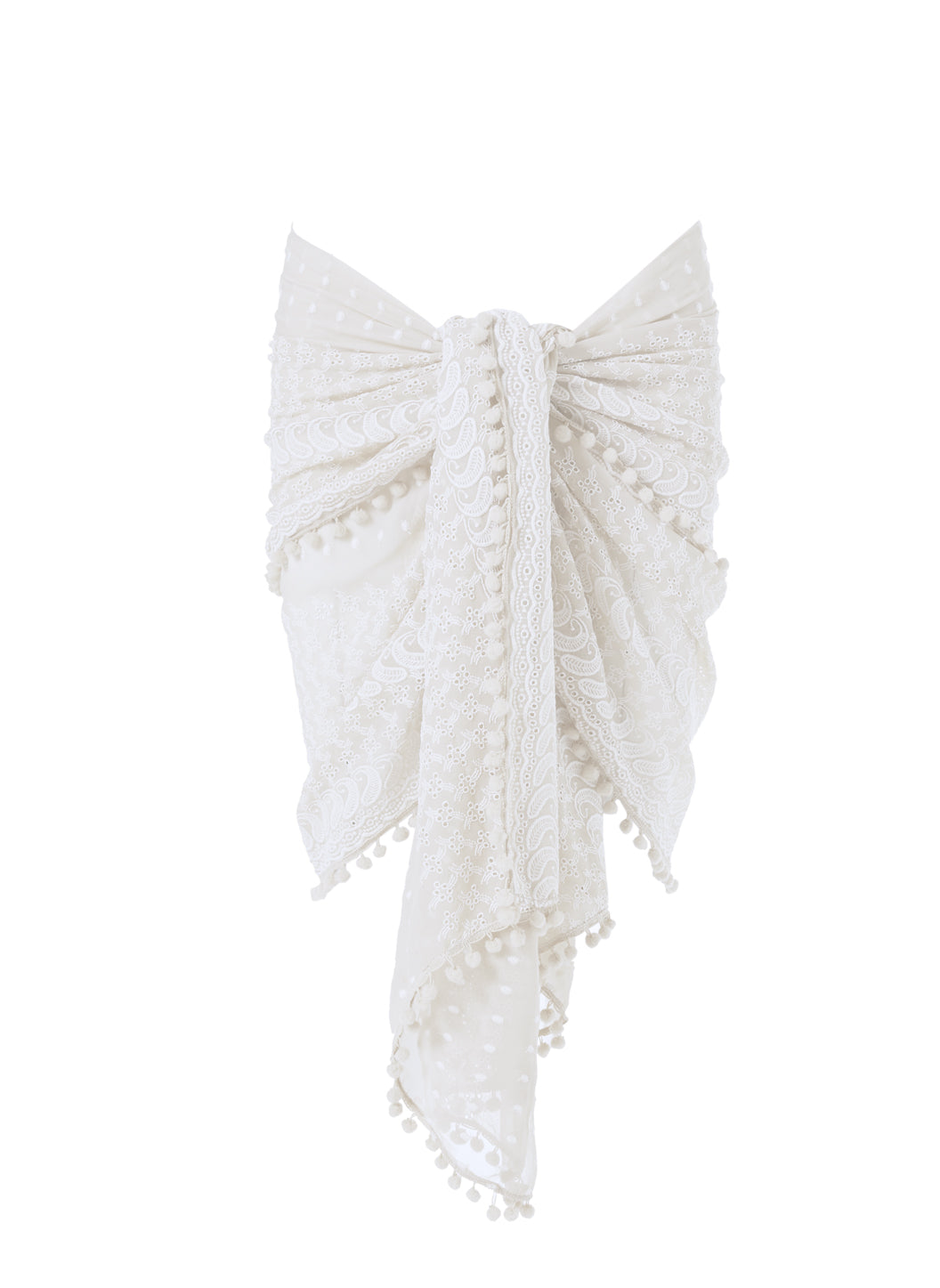 Pareo Cream Embroidered Multi-Way Cover Up