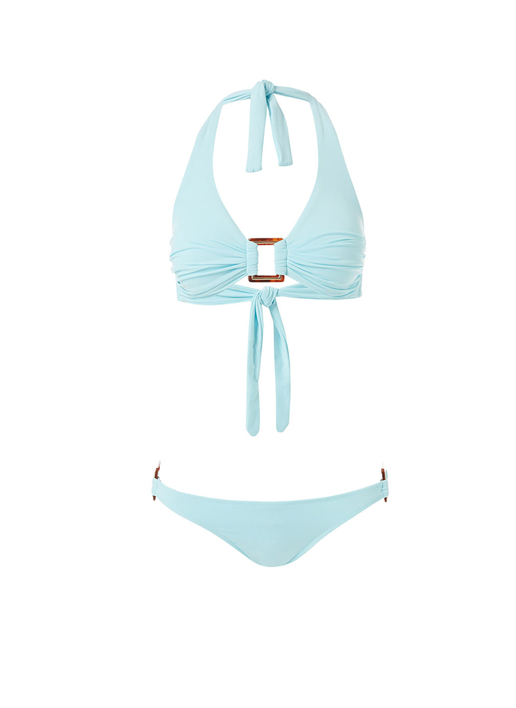 Paris Sky Halterneck Rectangle Trim Bikini