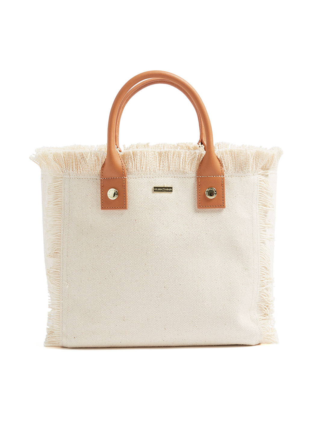 Porto cervo Custom Mini Beach Tote Beige - Melissa Odabash Accessories