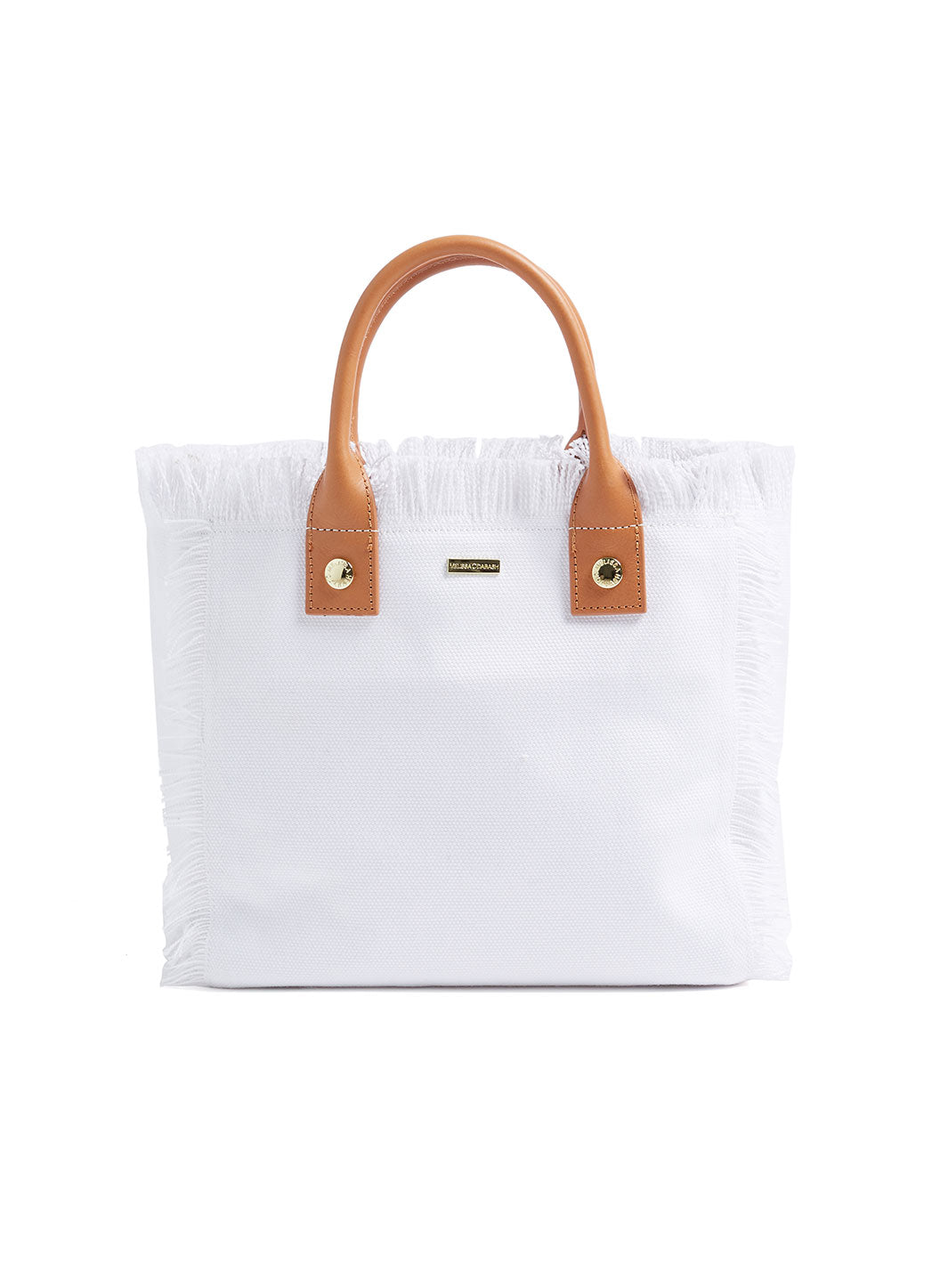 Porto Cervo Mini Beach Tote White - Melissa Odabash Accessories