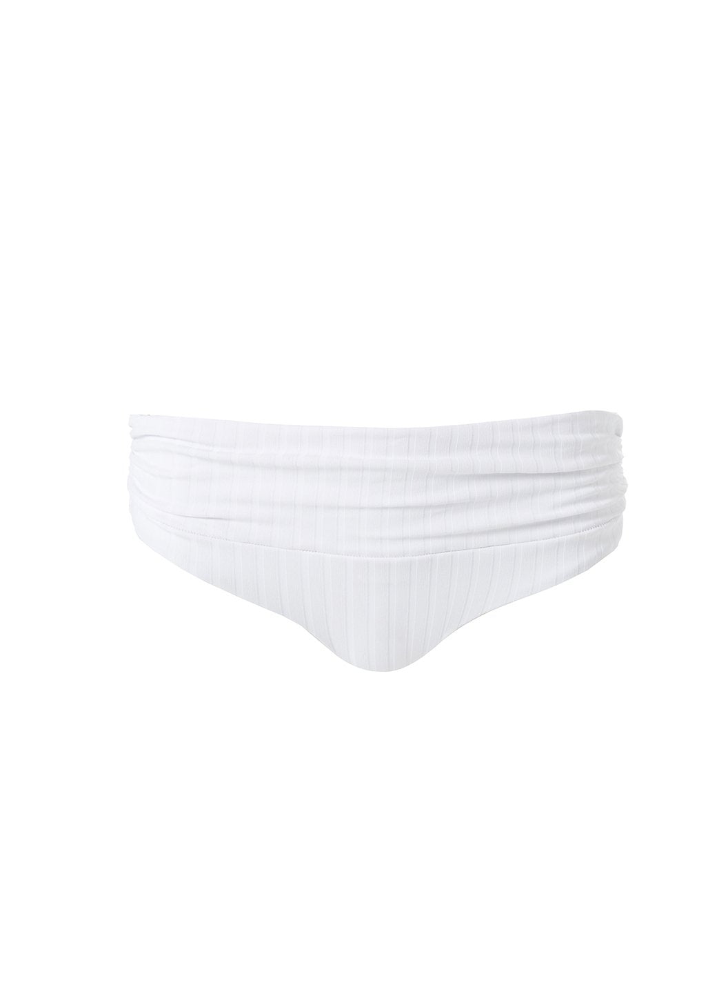 Bel Air Ribbed White Bikini Bottom