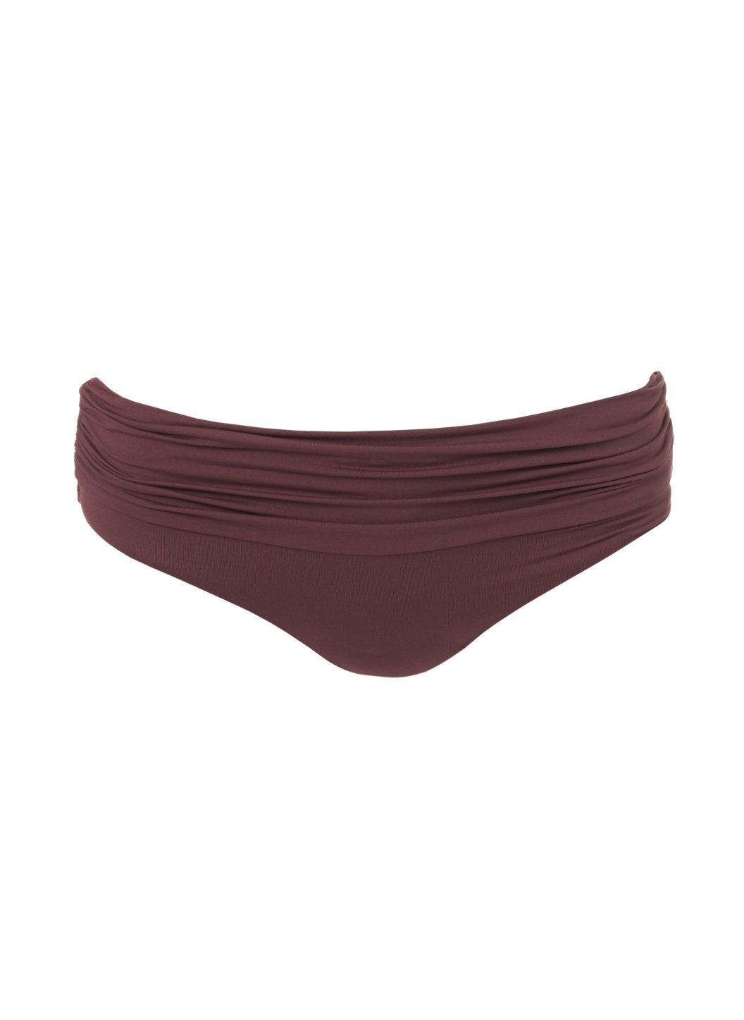 Belair Walnut Ruched Bikini Bottom