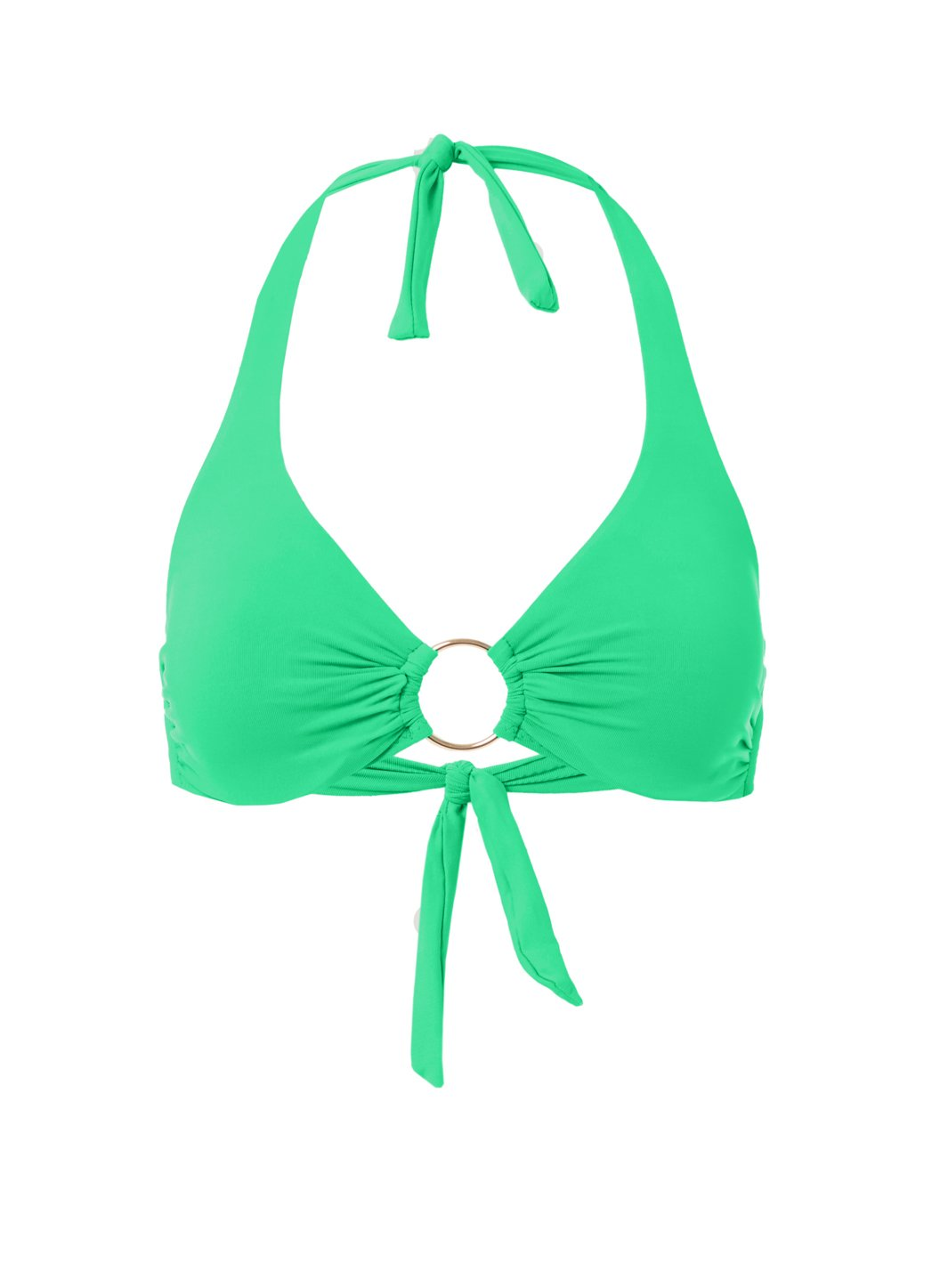 Brussels Green Halterneck Ring Supportive Bikini Top
