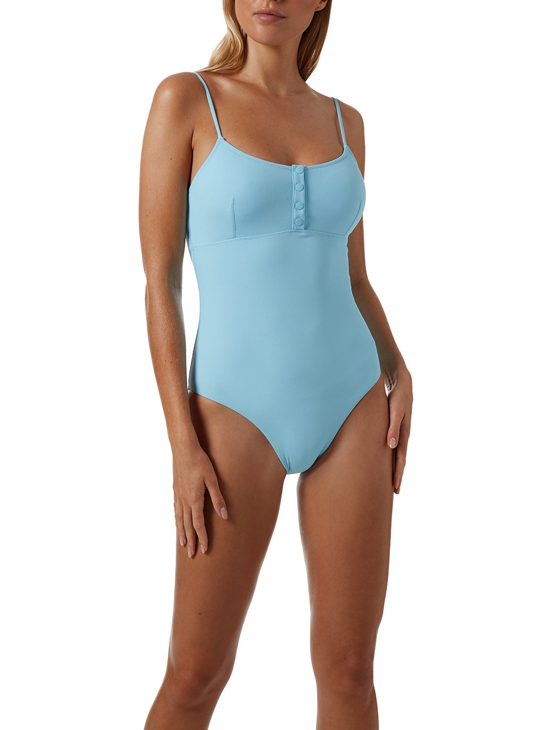 Calabasas Ribbed Celeste Swimsuit