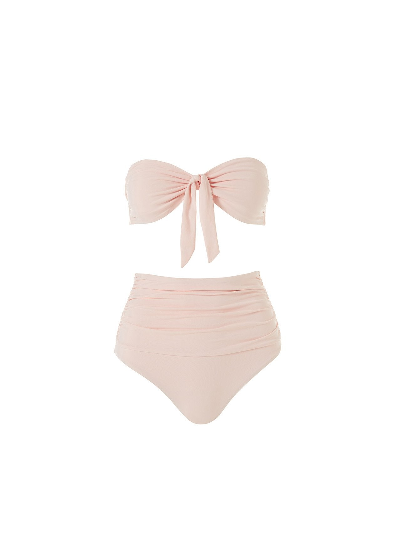 Caribe Blush High Waisted Bandeau Bikini 2020
