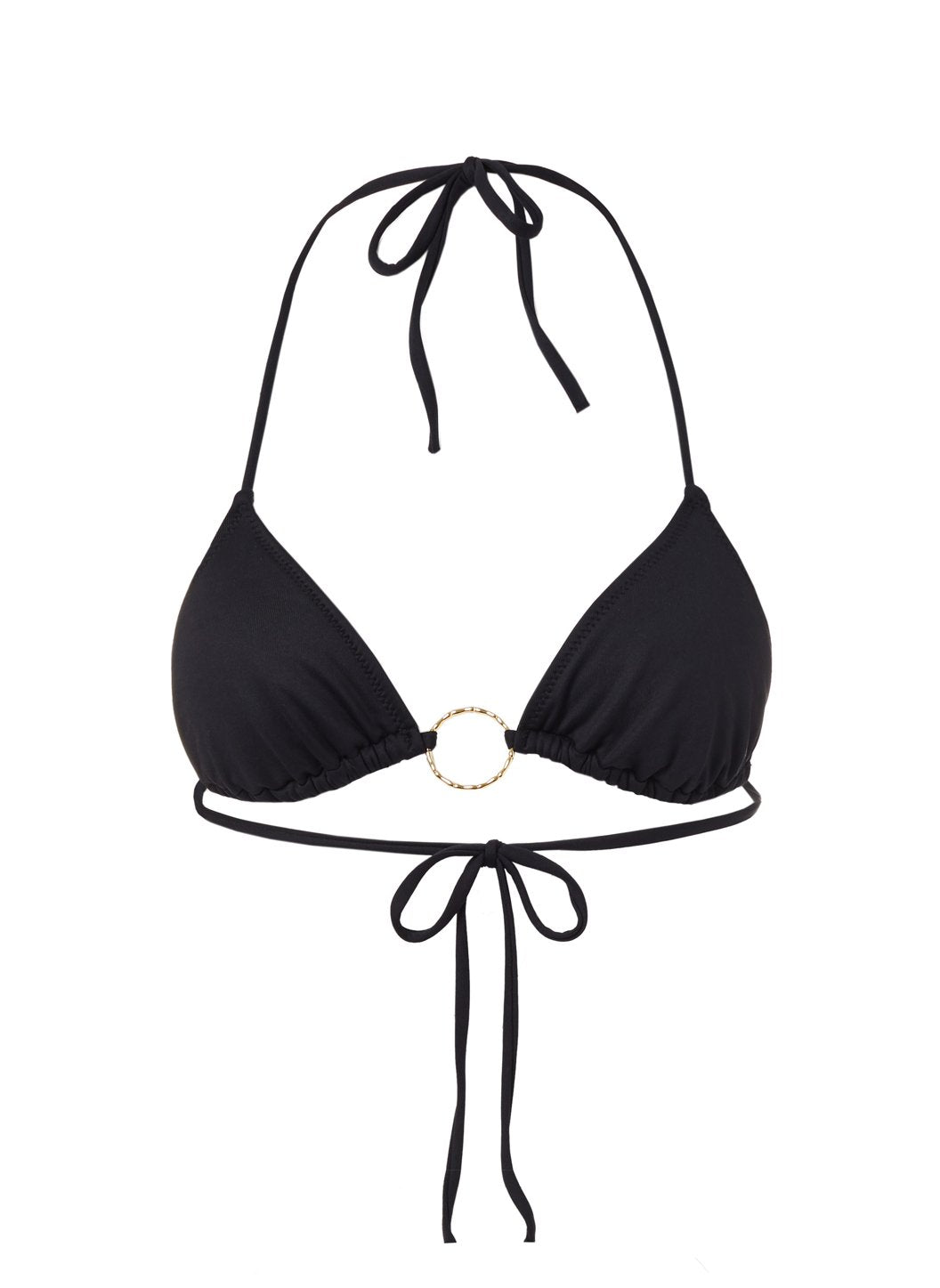 Miami Black Triangle Ring Bikini Top