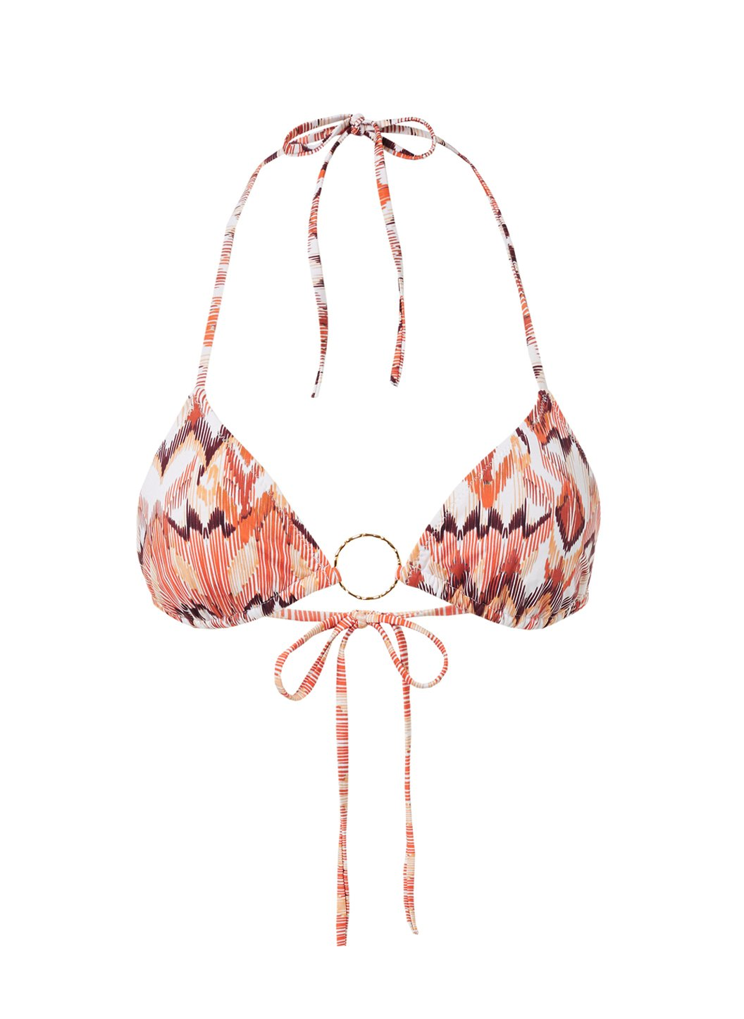 Miami Ikat Triangle Ring Bikini Top