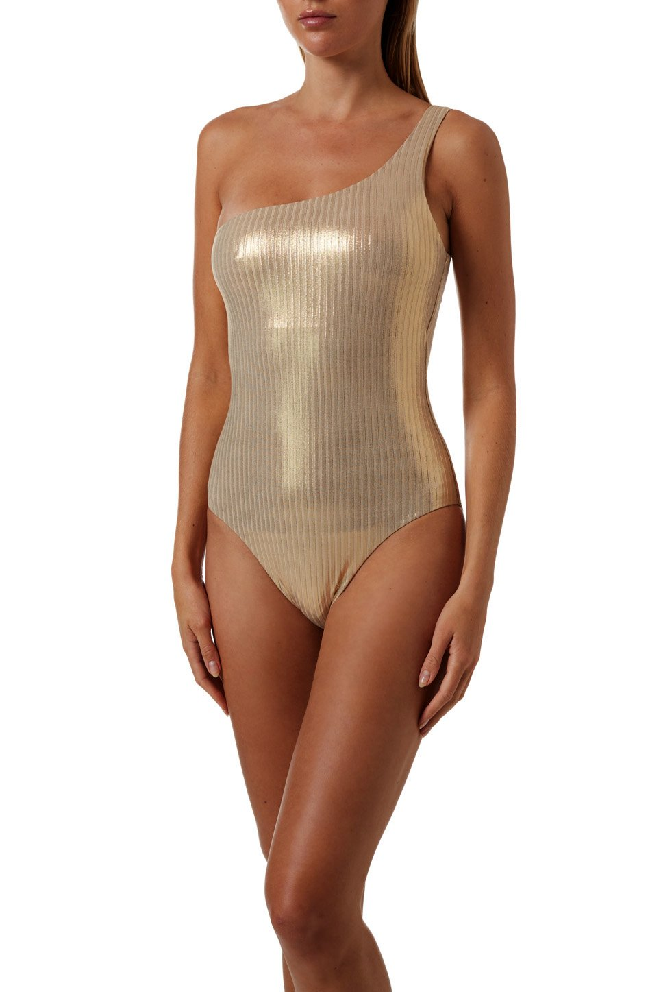 Palermo Gold Ribbed Swimsuit