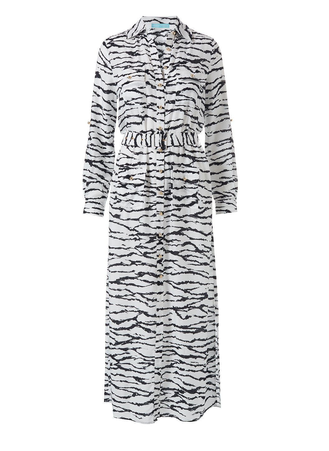 Peggy Tiger Print Dress