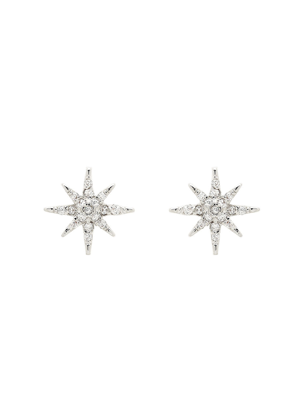 Silver Swarovski Star Earrings