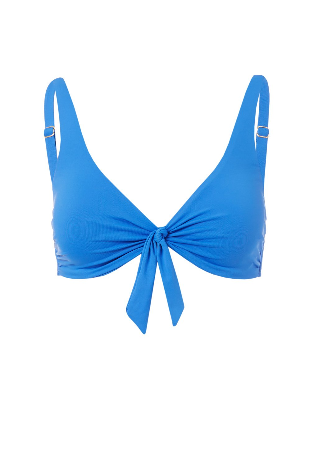 Sanjuan Cobalt Over The Shoulder Knot Supportive Bikini Top