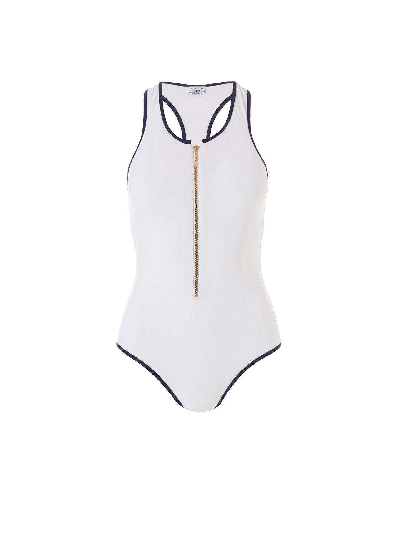 Torino White Sports Zip Front One Piece 2020