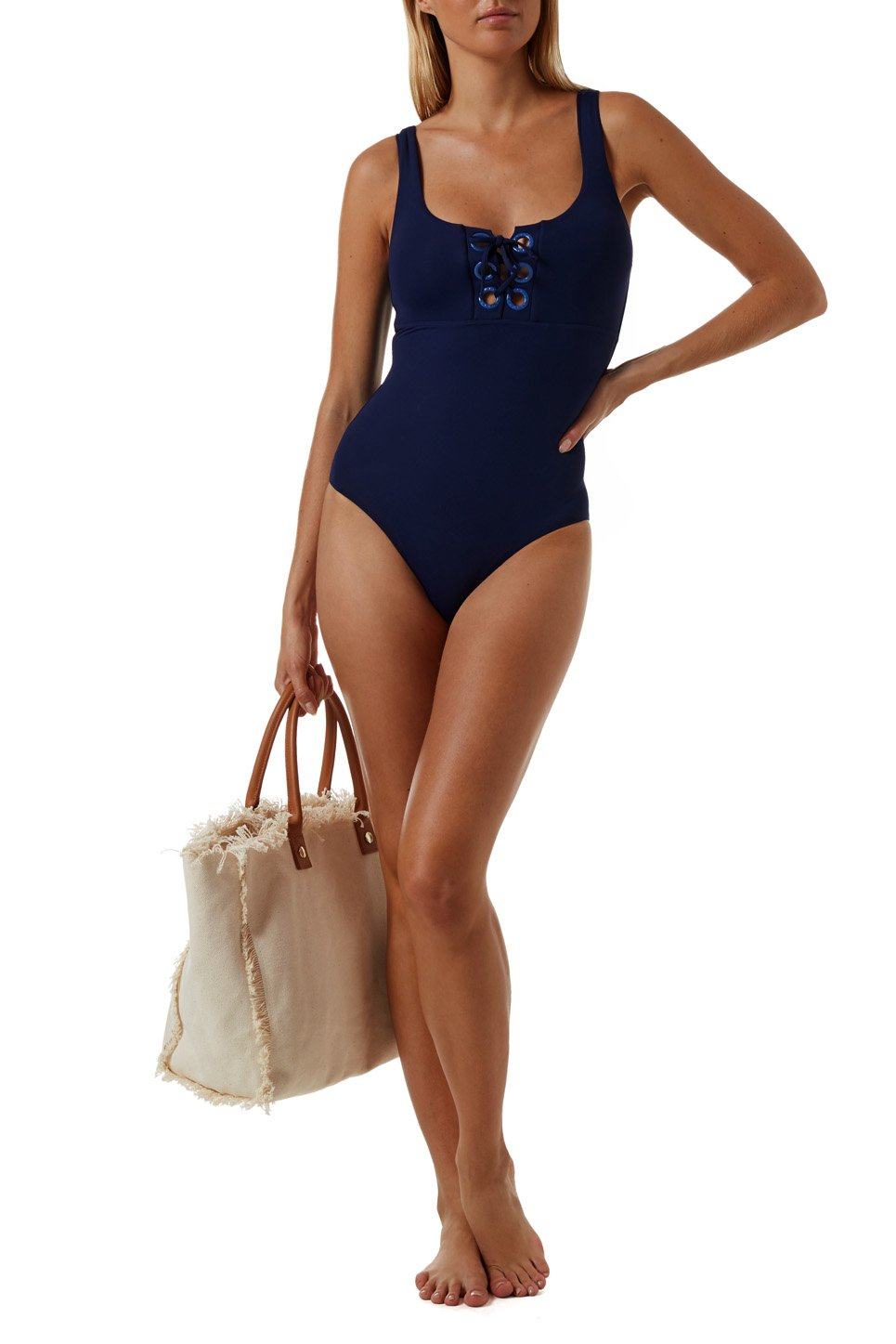 Tulum Navy Swimsuit
