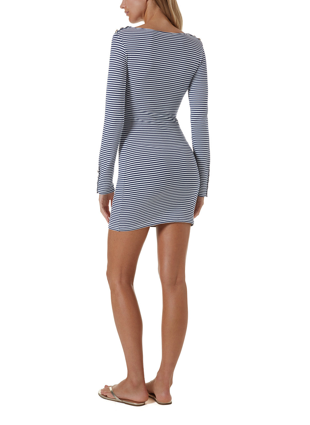 agata nautical navy short dress